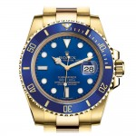 ROLEX SUBMARINER YELLOW GOLD BLUE DIAL REF 116618LB