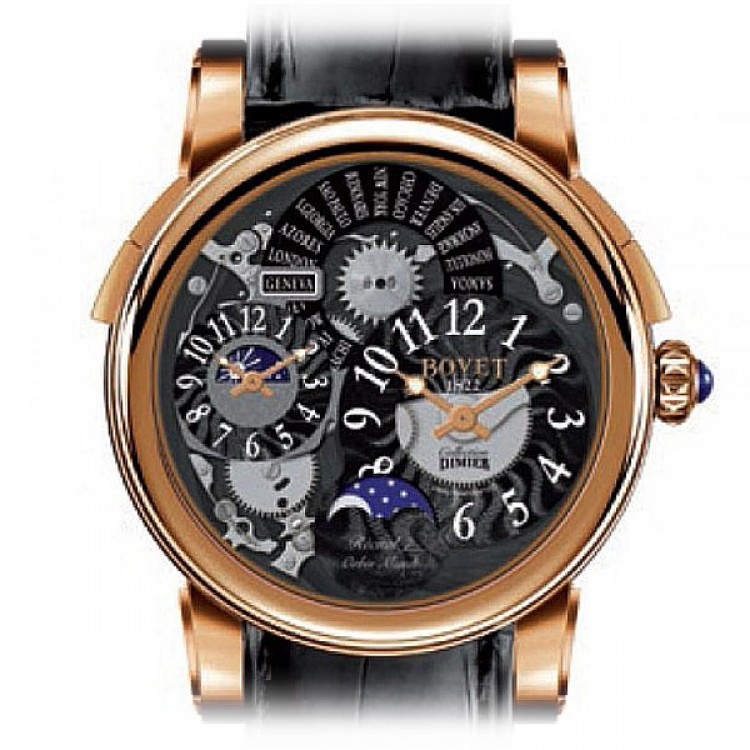 Bovet Dimier Recital 7 Orbis Mundi Moon Phase DTR7-WG-000-BA-03 Rose Gold Limited Edition R7 RG