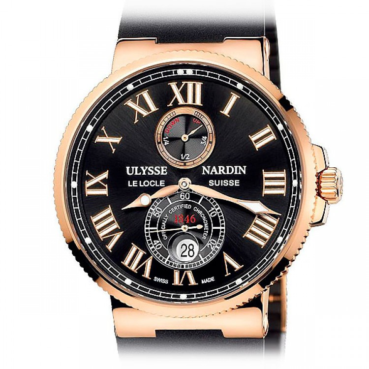UIysse Nardine Marine Collection Chronometer 43mm Rose Gold 266-67-3/42