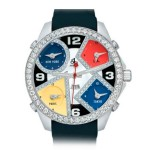 Jacob & Co. Five Time Zones 40 mm Steel & Diamonds 3,25 ct