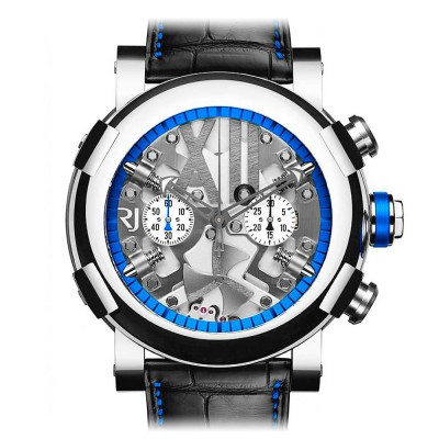 Romain Jerome Titanic Dna Steampunk Chrono Colours Blue Limited Edition 99 RJ.T.CH.SP.005.02