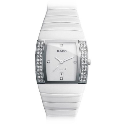 Rado Sintra Jubile Quartz 30mm Ceramic & Diamonds White R13830702