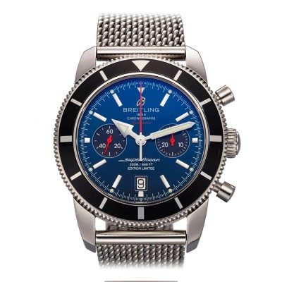 """Breitling SuperOcean Heritage Chrono 125th. Anniversary """"Gun Stratus Blue"""" Limited Edition of 1000 Pieces 46mm Ref: A23320"""