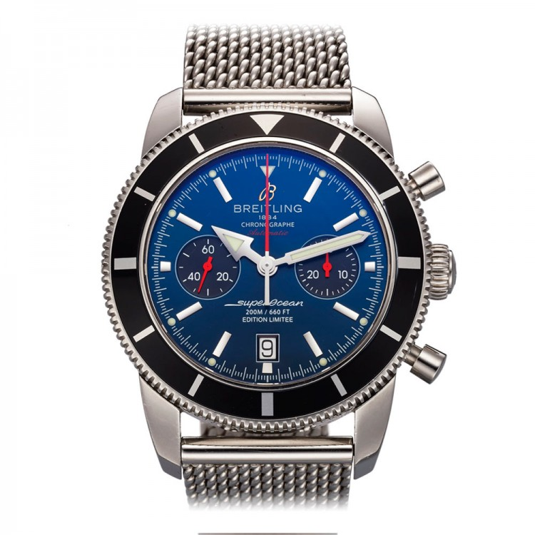 "Breitling SuperOcean Heritage Chrono 125th. Anniversary ""Gun Stratus Blue"" Limited Edition of 1000 Pieces 46mm Ref: A23320"