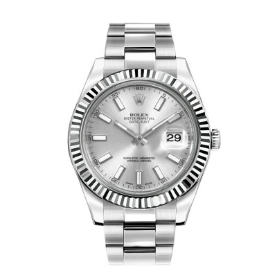 Rolex Datejust II 41 Automatic White Gold Bezel Watch 116334
