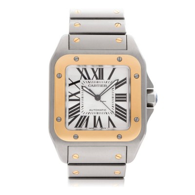 Cartier Santos 100 XL Gold and Steel 2656 W200728G
