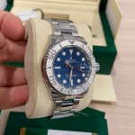 Rolex Yacht Master Blue 40mm Platinum and Steel 116622
