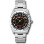 Rolex Oyster Perpetual 116034 black and orange dial Arabic