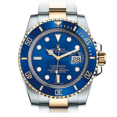 Rolex Submariner Blue Steel and Yellow Gold Ceramic 116613LB