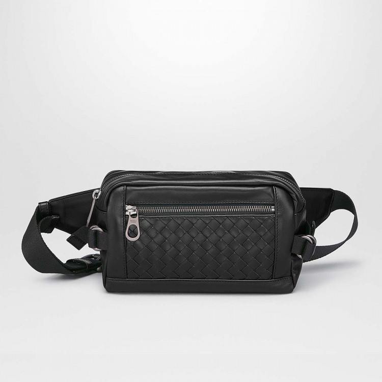 Сумка Bottega Veneta BELT BAG IN NERO INTRECCIATO CALF 368899VQ1211000