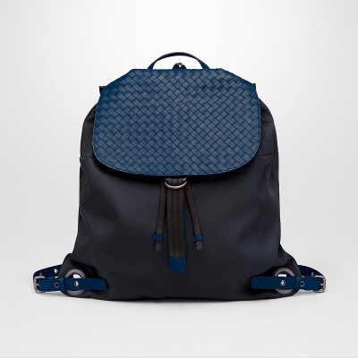 Рюкзак Bottega Veneta TOURMALINE TECHNICAL CANVAS AND PACIFIC INTRECCIATO CALF 409595VAYE33960