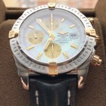 Breitling Chronomat Evolution 44mm Yellow Gold Pearl Dial B13356