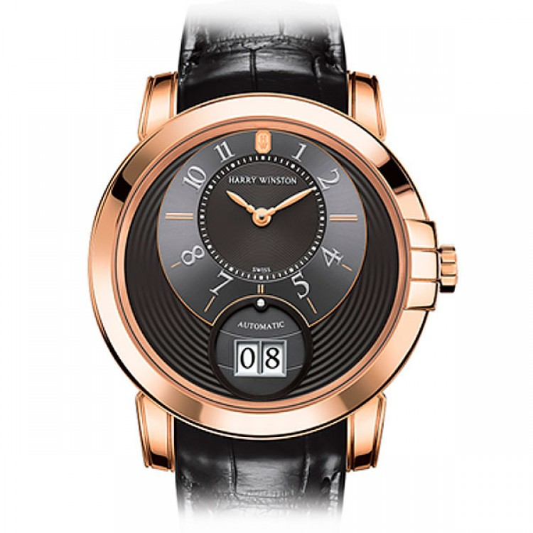 Harry Winston Midnight Big Date Rose Gold 42 MIDABD42RR002
