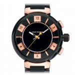 Louis Vuitton Tambour Rose Gold Black PVD Multifunctional Chronograph Large Q118N0