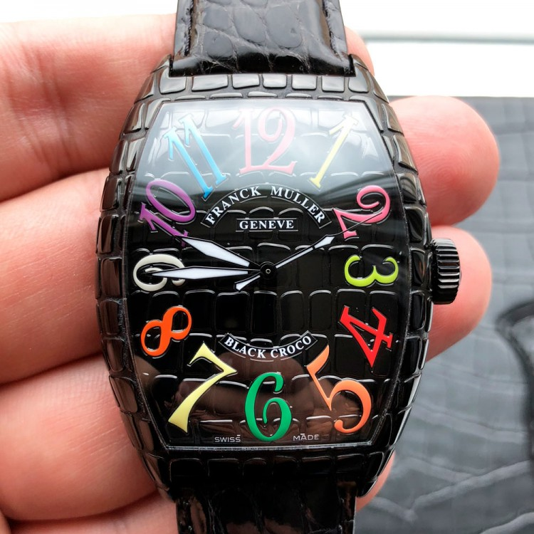 Franck Muller Cintree Curvex Croco 8880 SC BLACK CROCO COLOR DREAM